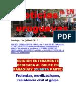 Noticias Uruguayas Domingo 1 de Julio Del 2012