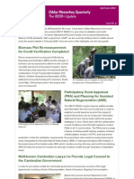 OM REDD+ Quarterly 6th Issue (April- June 2012)