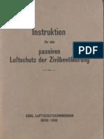Instruktion für den passiven Luftschutz der Zivilbevölkerung - Eidg. Luftschutzkommission Bern 1935