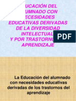 EDUCACION DE ALUMNOS CON NECESIDADES EDUCATIVAS ESPECIALES ASOSIADA A DISCAPACIDAD INTELECTUAL Y TRASTORNOS DE APRENDIZAJE