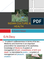 Indian Culture and Health