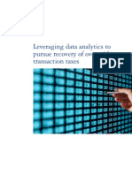 Leveraging data analytics to pursue recovery of overpaid transaction taxes