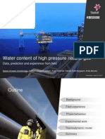 Water Content of High Pressure Natural Gas