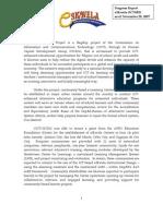 eSkwela Progress Report - eGov Fund 2006 - Nov 28, 2007