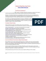 Modern Whig Party Key Points Mini Membership Primer Version