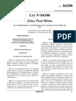 Codigo Penal Militar Paraguay