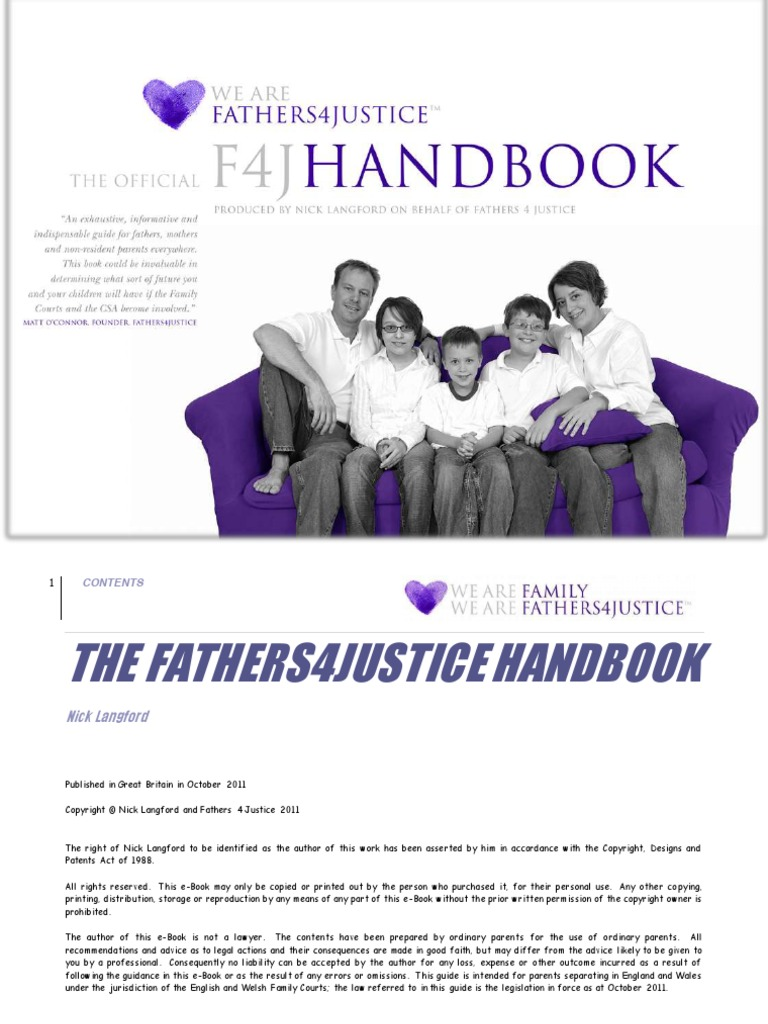 The fathers4justice handbook 2011 barrister child support solutioingenieria