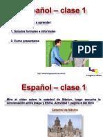 Español verbo ser, pronombres personales y nacionalidades