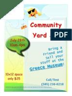 Yard Sale Vendor Flyer