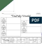 Toad-Ally Vowels Worksheet