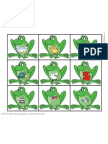 Frog to Log Picture & Word Match