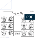 Frog vs. Fly Worksheet