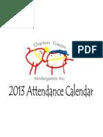 2013 attendance calendar