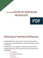 Foundation of Individual Behaviour