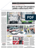 Multas por poner en riesgo a los pasajeros de transporte público suben hasta 900%