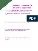 Cuestionario de Maltrato Psicologico.