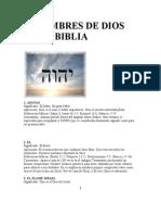 21 Nombres de Dios en La Biblia