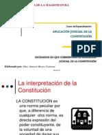 DIAPOSITIVAS II - JBC - aplicación judicial de la Constitución