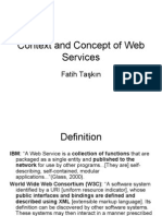 Context and Concept of Web Services
