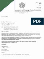 ___administrative Dismissal Ltr Doug Chalmers 01-27-12 in the Matter of Steve Davis 2010-0064