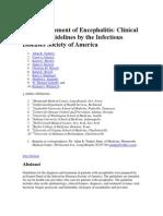 The Management of Encephalitis