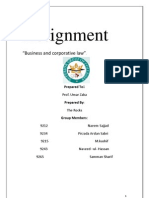 Final business Law Asignment
