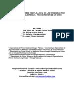 160 - Rabdiomiolisis Como Complicacion en Las Urgencias Por Quemaduras Electricas. Presentacion de Un Caso.