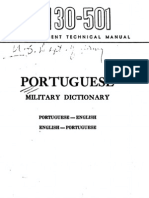 (ENG Dictionary) Tm 30 501 Portuguese Military Dictionary 1944