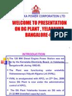 Yelahanka Dg Plant Presentation Final