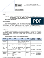 TALLER DE MATERIALES EDUCATIVOS UGEL 01