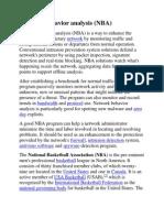 Network Behavior Analysis