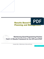 RBM 3 UNICEF Results Framework