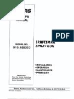 Craftsman Sprayer - L0707075