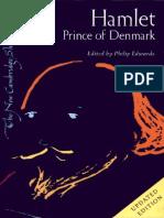 Hamlet Prince of Denmark the New Cambridge Shakespeare