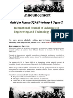 Call for Paper IJAET Volume 4 Issue 2