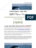 Call for Paper IJAET Sept 2012 Volume 4 Issue 2