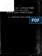 A Critical Analysis of the Four Chief Pauline Epistles d3b62d6a4b44