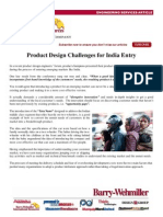Product Design Challenges for India Entry