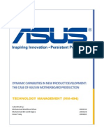 Dynamic Capabilities in New Product Development the Case of Asus in Motherboard Production