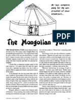 The Mongolian Yurt - DIY