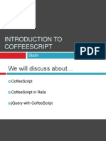 Introduction to CoffeeScript