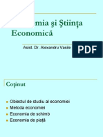 Economia și Știința Economică (I)