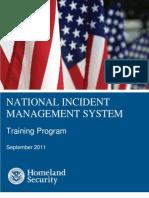 Nims Training Program