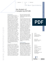 The Key to the Analysis of High Matrix Samples by ICP-MS