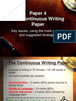 Continuous Writing
