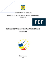 Regional Operational Programme-Romania 2007-2013- Version2007