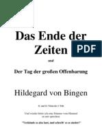 Hildegard von Bingen - Das Ende der Zeiten und die große Offenbarung