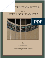 Construction Notes for a Steel String Guitar - Sample