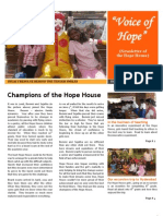 """""""Voice of Hope"""" - Newsletter of the Hope House"""