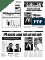 Versión impresa del periódico El mexiquense 2 julio 2012